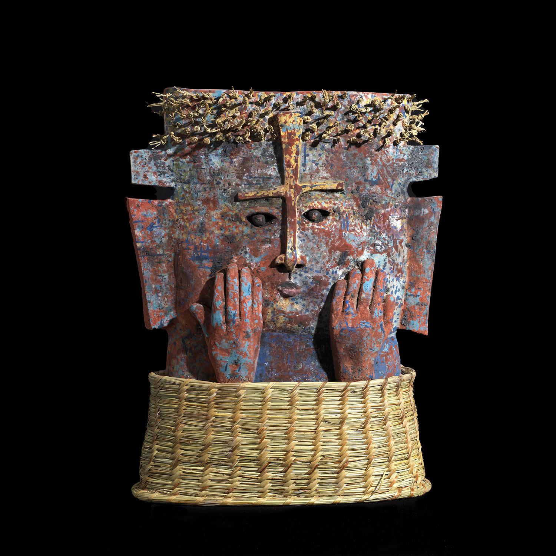 Illapu,Dieu du Tonnere,54x41x15cm,terre