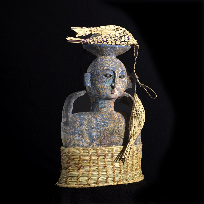 Llamayu,Temps des Moissons,63x40x22cm,Te