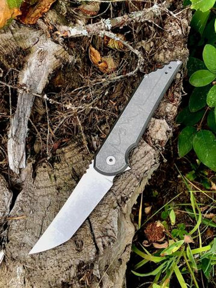 Kwaiback MK5.1 Folder, Titanium with Heartbeat Design, CPM-20CV Blade Steel, Sto