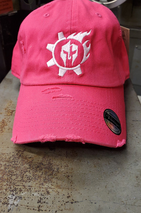 Triarii Metalworks Pink distressed operator hat