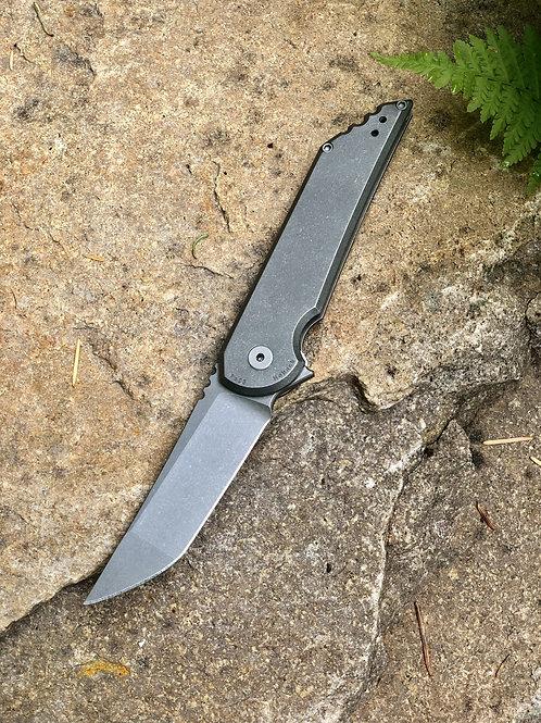 Kwaiback MK5.1 Folder, Titanium with Smooth Sides, CPM-20CV Blade Steel, Stonewa
