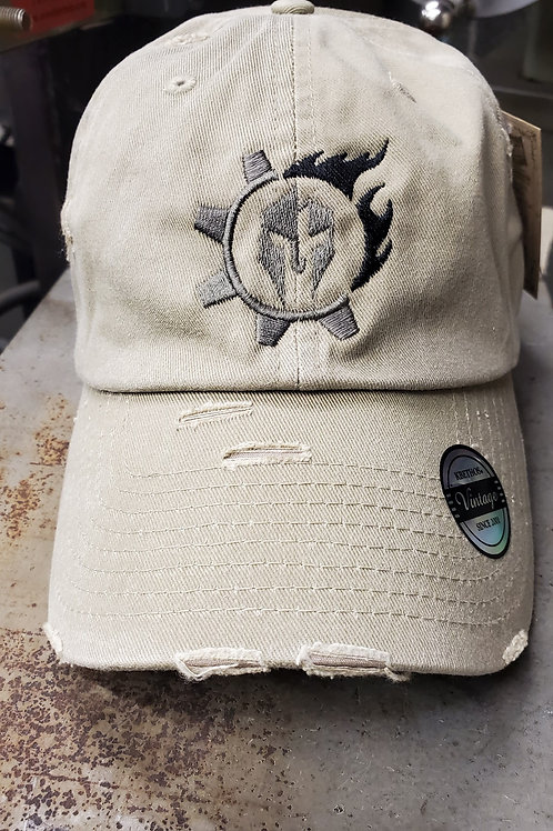 Triarii Metalworks Khaki distressed operator hat