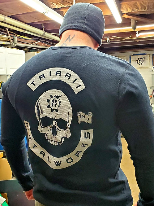 Triarii Metalworks Next Level Waffle Thermal long sleeve charter shirts