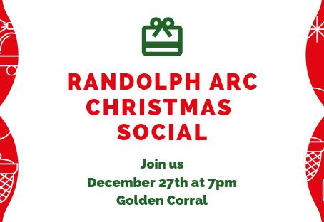 Christmas Social - Dec 27th at 7pm