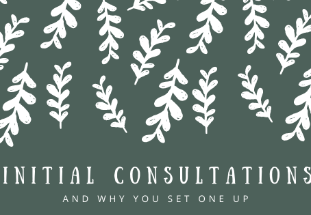 Initial consultations & why they're important!