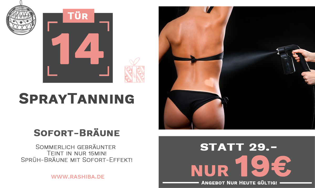 Tür 14 - Spray-Tanning