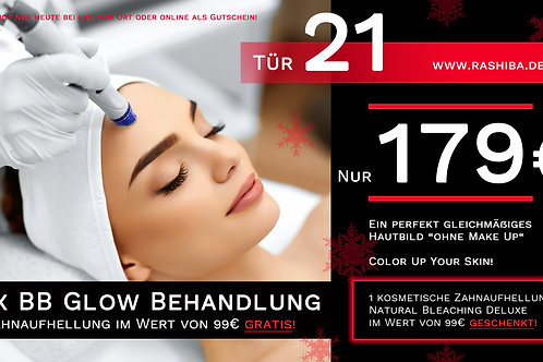 2 x BB Glow Hautbehandlung + Zahnaufhellung gratis!