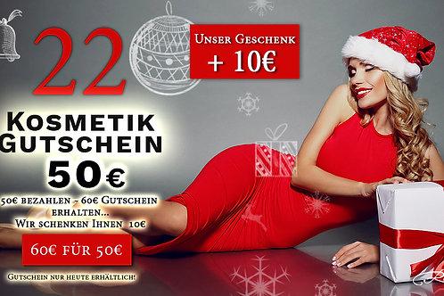 Kosmetikgutschein im Wert von 60€