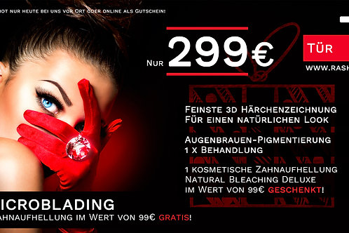 Microblading + 1 x gratis Natural Bleaching Deluxe!