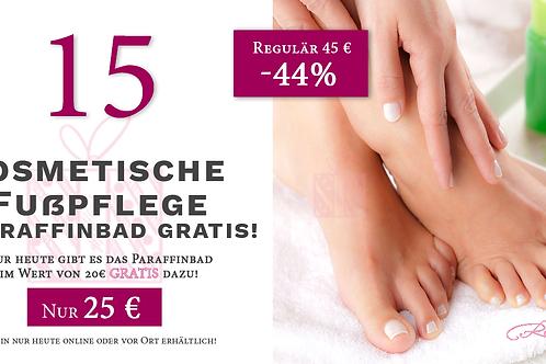 Kosmetische Fußpflege + Paraffinbad gratis!