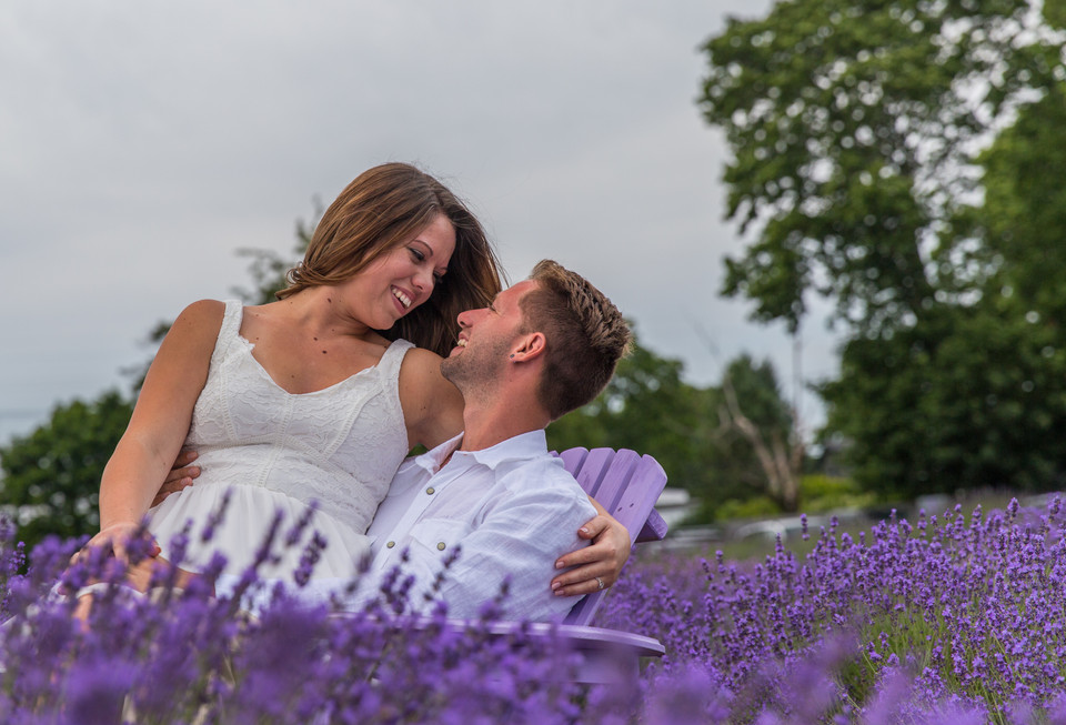 lavender by the bay engagement photography