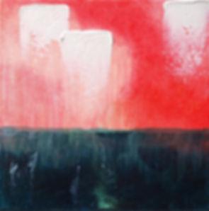 The Earth is Closing Its Doors by Rain Jordan  12 x 12 x 1.5  Acrylic on Oil