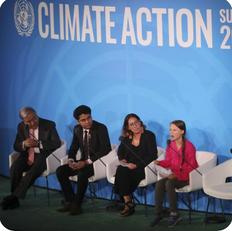 Greta Thunberg Speaking at Climate Action