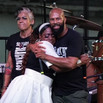 Common and Tenicia Bennet at George Floyd 1 year memorial