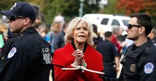 Jane Fonda at Climate Change Protests
