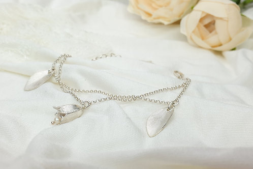LILY - Zweireihiges Lily of the Valley Armband Silber