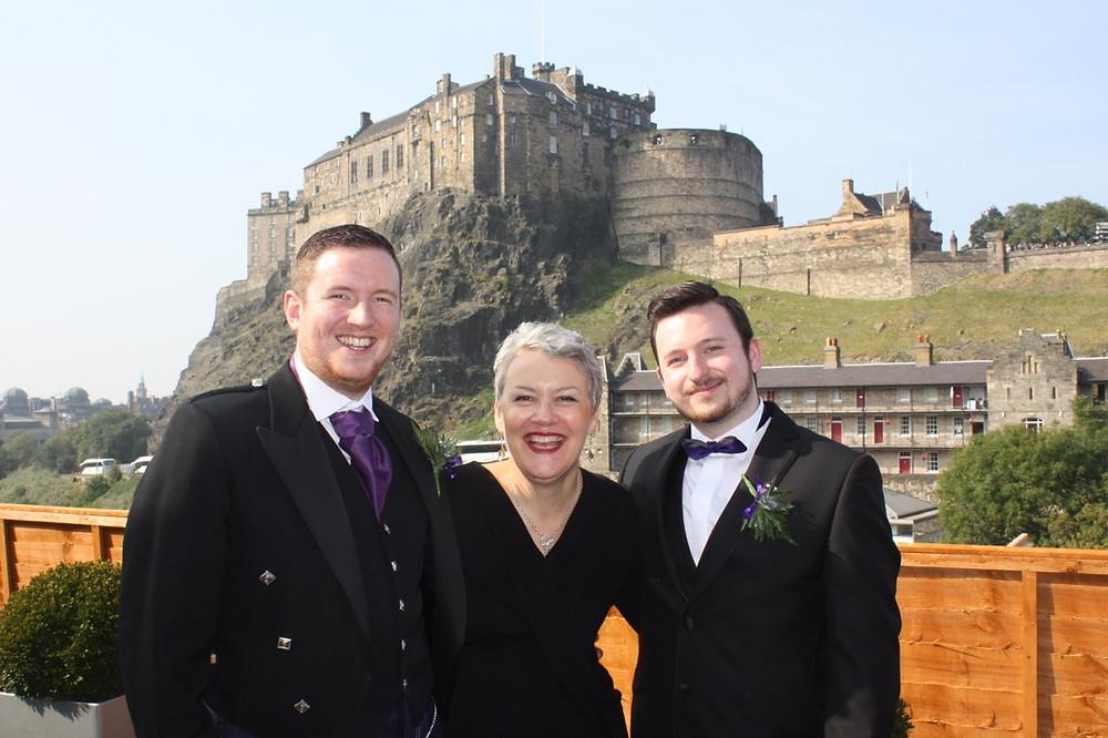 gay marriage scotland edinburgh castle humanist wedding