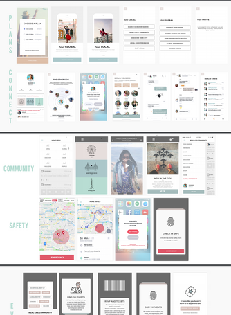 Wireframes designed by Anne Scott