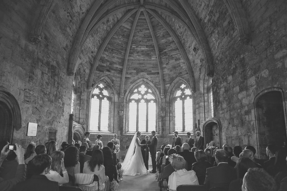 incredible humanist wedding in scottish church