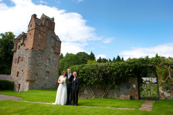 Scottish wedding in a castle
