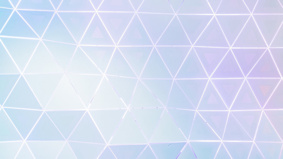 Irregular white rectangles on a faded background of blues and purples