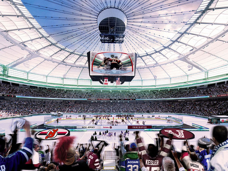 Devils edge Canucks in outdoor New Year's game