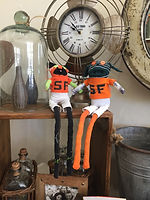San Francisco Giants Doll, TEEsox rag doll, One of a kind dolls, sock animals, hand stitched dolls, cloth dolls, sustainably made dolls