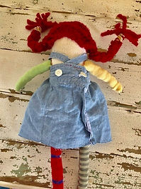 IMG_0285.jpeg, Pippi Longstocking doll, rag doll, etsy shop, etsy seller, sustanable doll