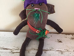 Green Beard the Pirate Pig, custom rag doll, book character doll, pirate doll, guinea pig stuffed animal, one of a kind doll, teesox rag doll, etsy, etsy shop, stuffed animal, sustanable rag doll, picture book character doll,