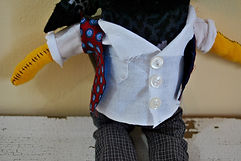 shirt and vest, rock star custom doll, one of a kind doll, teesox rag doll, sustainably made