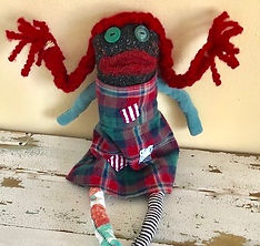 IMG_0283 2.jpeg, Pippi Longstocking rag doll, TEEsox, sustainably made, reclaimed clothing, children's book character doll, etsy, etsy seller