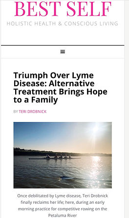 Image-1.jpeg, Teri Drobnick, North Bay Rowing Club, Master's rowing, Lyme Disease, Chronic Lyme Disease, Alternative treatments, hope for Lyme sufferers, Beating Lyme Disease, Dr Woitzel, Lyme Treatment in Germany, Photon Treatments, Lyme Disease testing