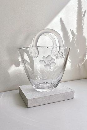 V I N T A G E   Vase Sac en verre
