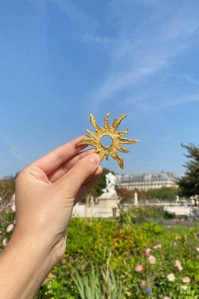 V I N T A G E | Broche soleil doré