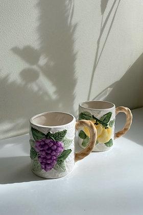 V I N T A G E | Mugs barbotine fruits