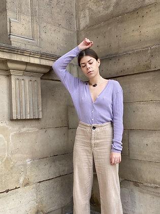 VINTAGE | Purple silk cardigan