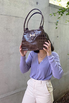 V I N T A G E | Croco leather handbag