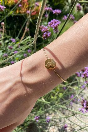 O R P H E E | Roy gold plated bangle bracelet