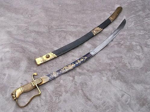 Named Georgian Flank Officer's sword