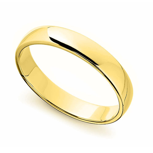14k Yellow Gold 4-mm Standard-fit Polished Wedding Band