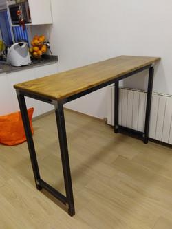 mesa estructura de hierro