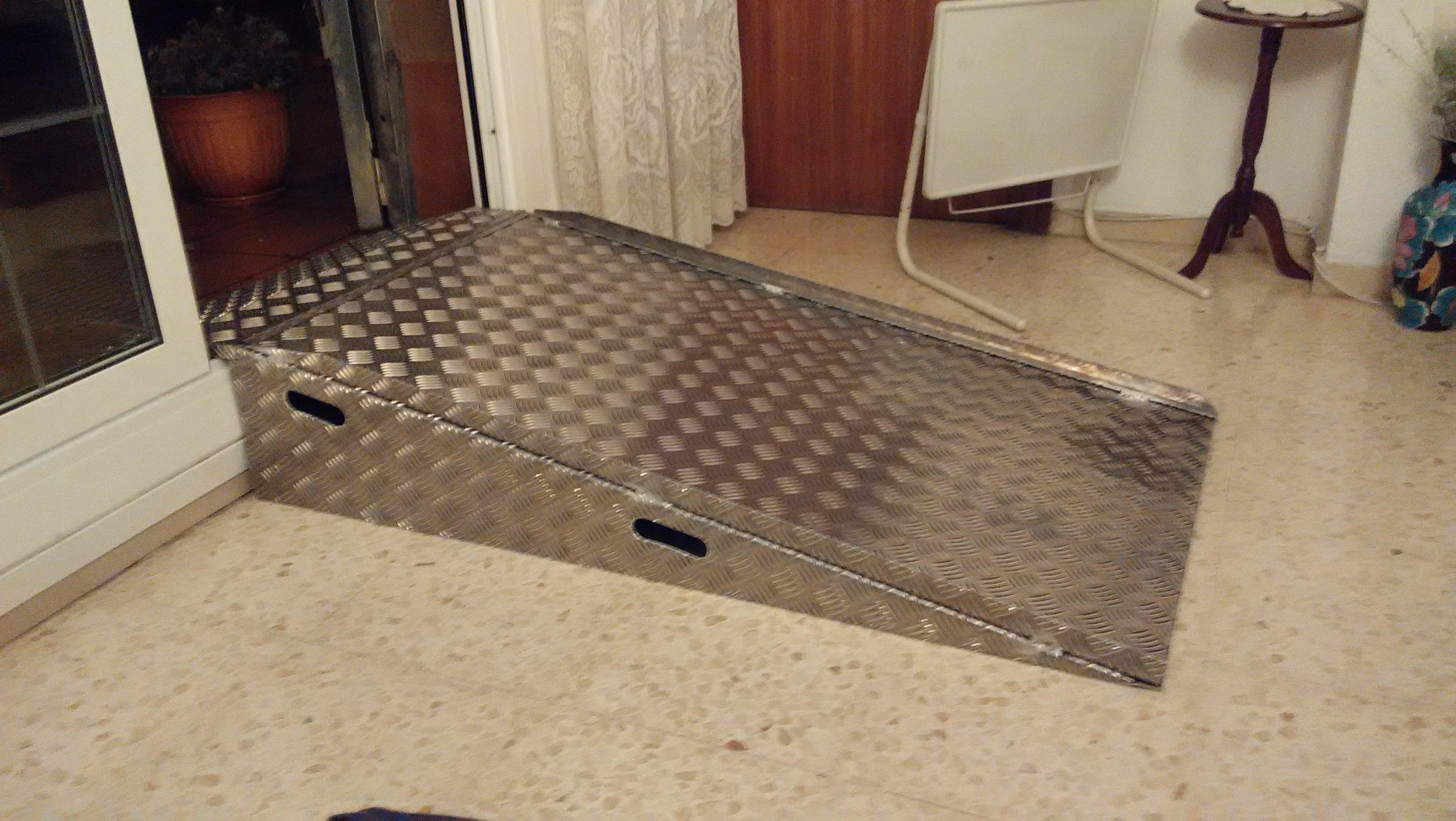 Rampa acceso aluminio