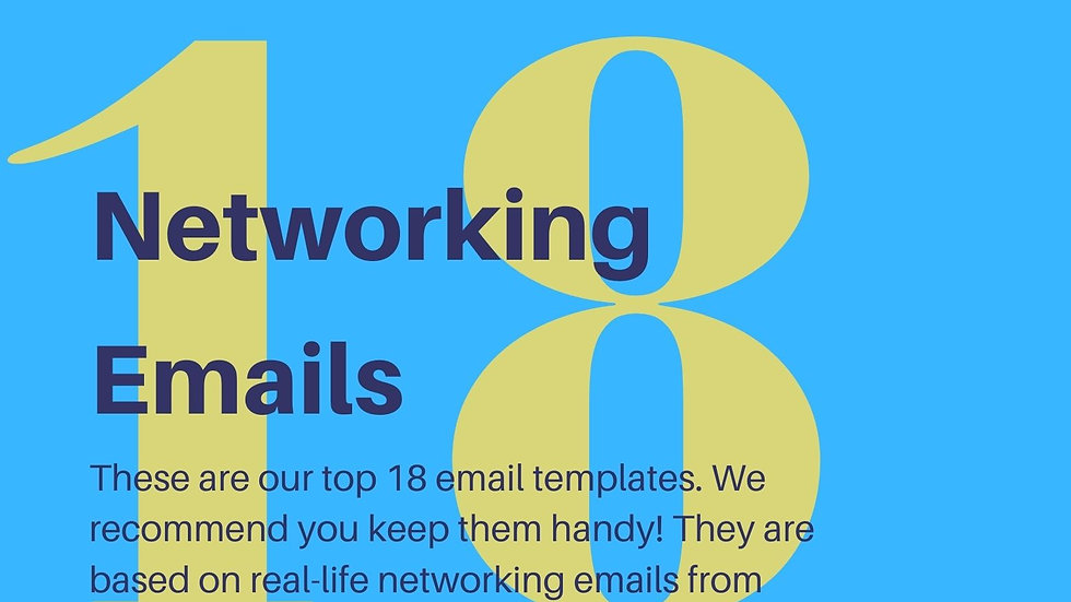 How to Write Networking Emails (+ 18 examples)