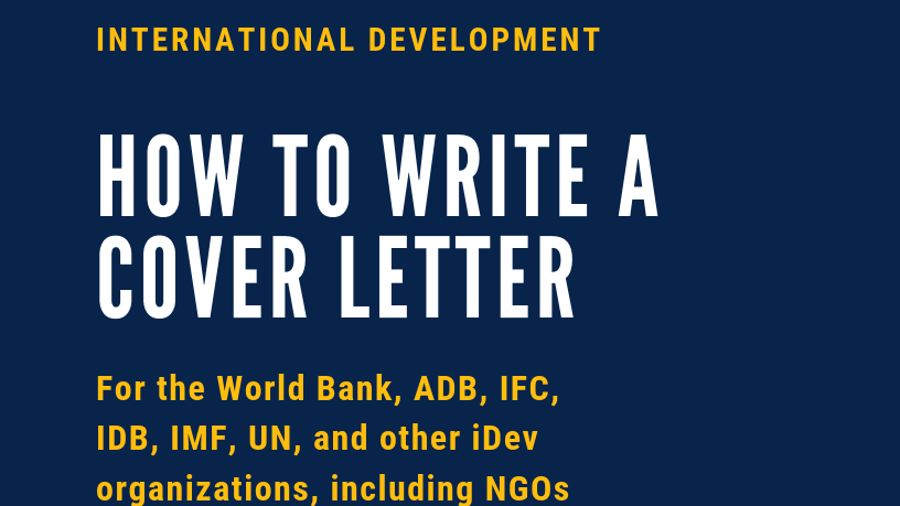 How to Write a Cover Letter for the World Bank (+10 Winning Examples)