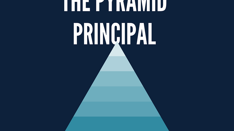 Pyramid Principal: Structure in Writing & Presenting