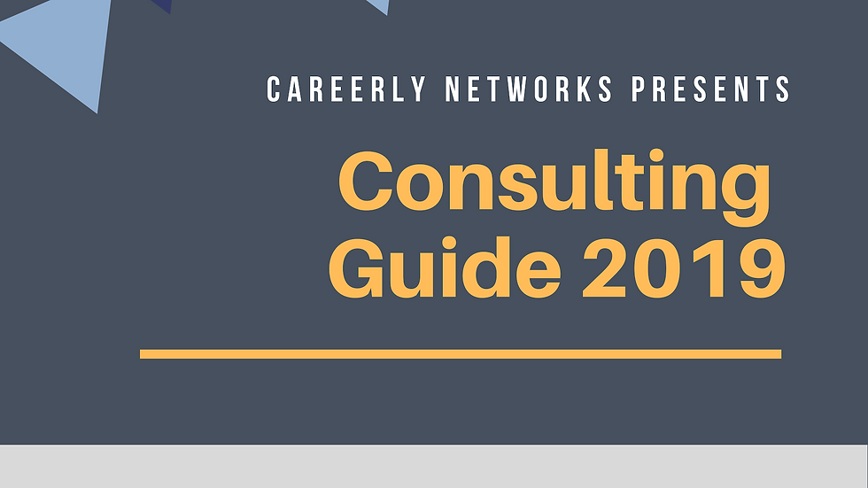 The Careerly Consulting Guide 2019