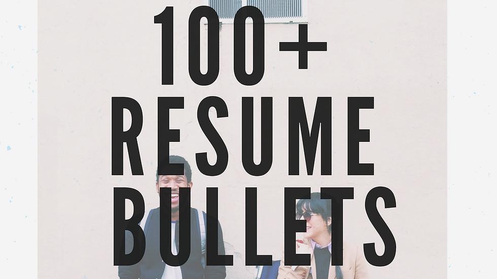 100+ Resume Bullets