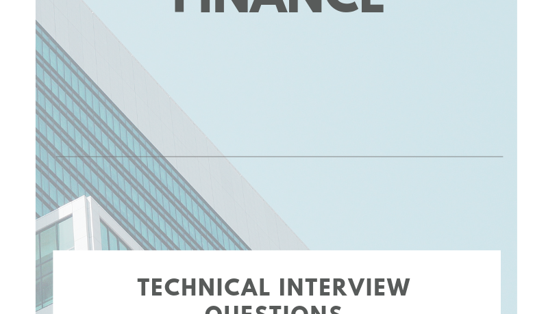 Banking & Finance: Technical Interview