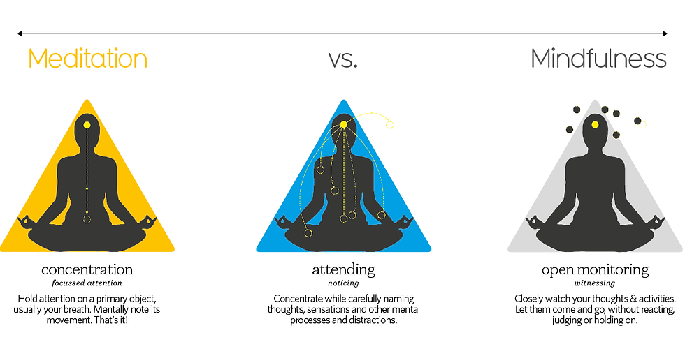 Mindfulness & Meditation: Do You Know the Difference?