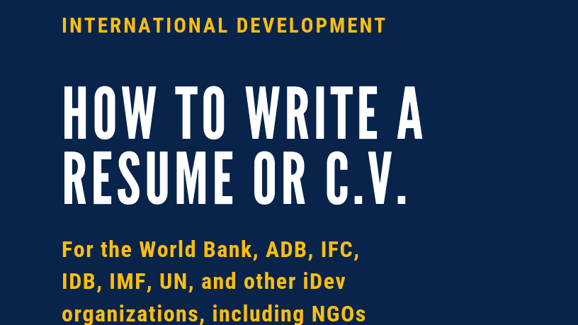 How to Write a Resume/CV for the World Bank (+10 Winning Examples)